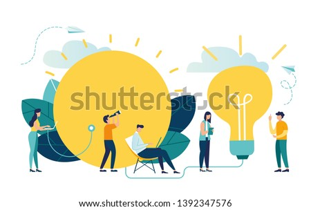 alternative renewable energy sources. solar energy, technological solar panels. the schedule of designing the extraction of natural resources, a large light bulb is recharged from the sun