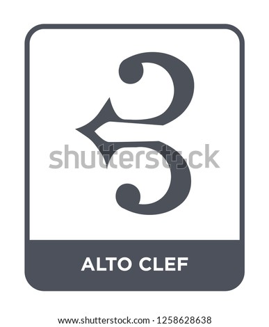 alto clef icon vector on white background, alto clef trendy filled icons from Music and media collection, alto clef simple element illustration