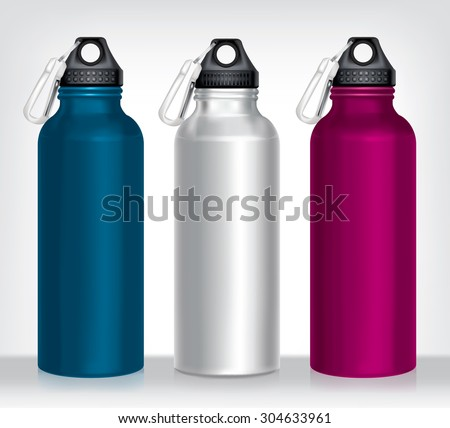 aluminum bottle water isolated