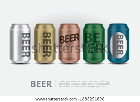 aluminum cans beer isolated