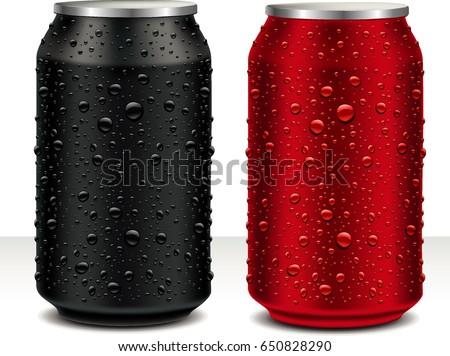 aluminum cans in black  dark