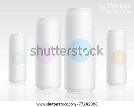Aluminum cans isolated on white. Vector illustration