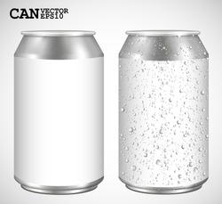 Aluminum cans, Realistic vector