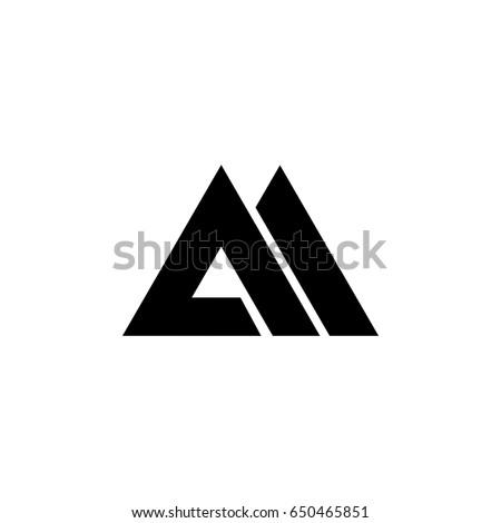 am letter logo