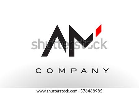 am logo  letter design vector