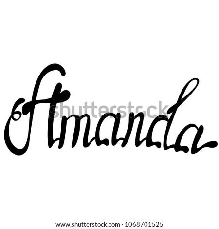 amanda name lettering