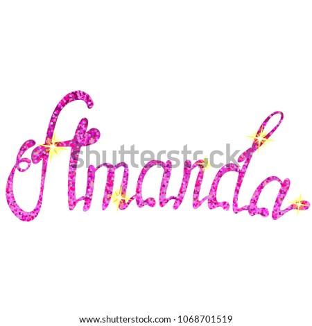 amanda name lettering tinsels