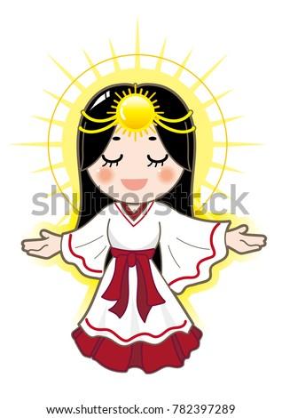 amaterasu japanese goddess image