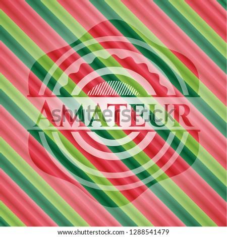 Amateur christmas emblem background.