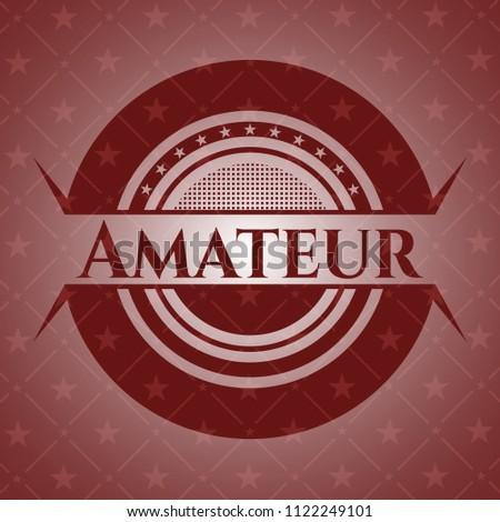 Amateur red emblem. Retro