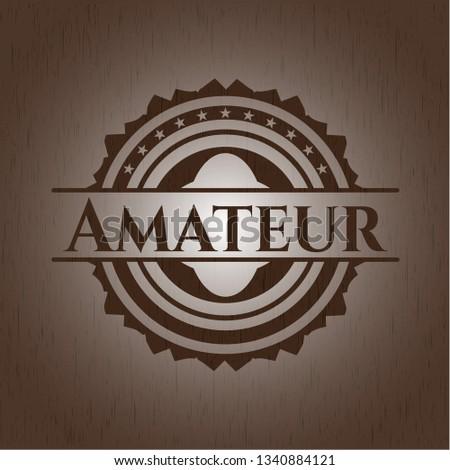 Amateur retro style wood emblem
