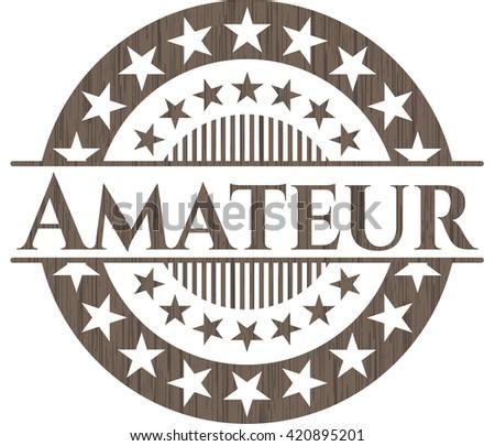 Amateur retro wood emblem