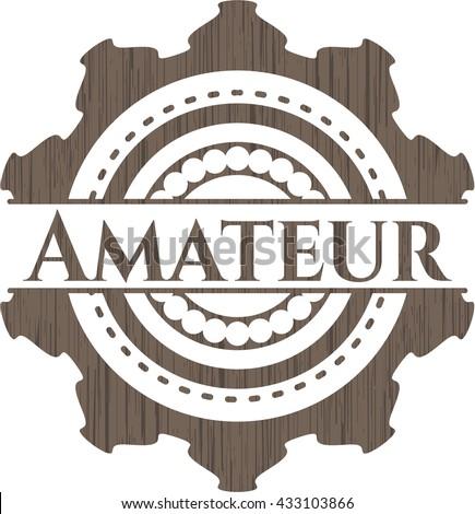 Amateur wood emblem. Retro