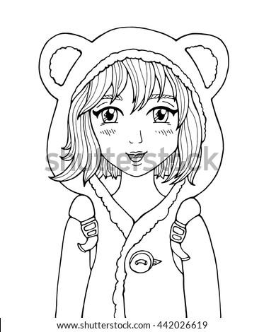 amazing anime girl manga style