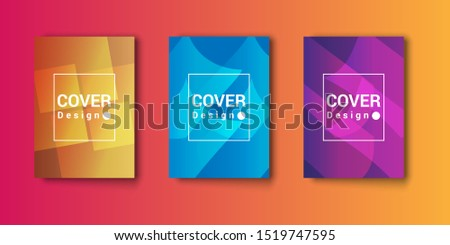 Amazing business presentation vector. Modern abstract themed cover design with geometric patterns and three color choices. Good for the cover of books, magazines, and other products