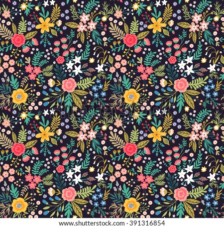 amazing floral pattern with