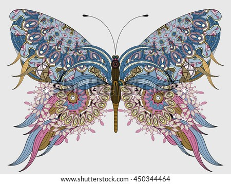 amazing fly butterfly coloring