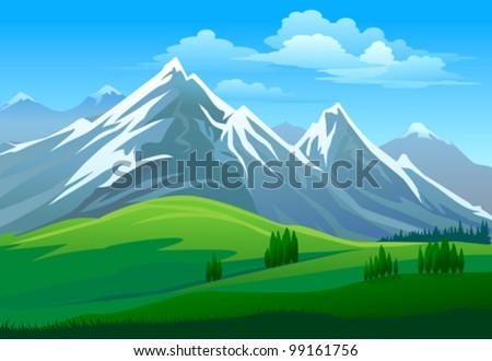 amazing glaciers on mountain