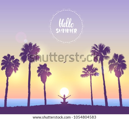 amazing silhouette woman sit in