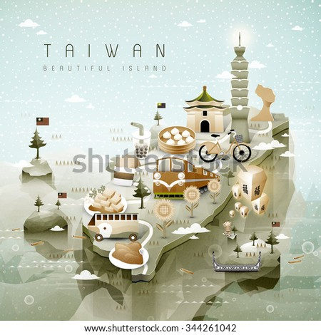 amazing taiwan attractions map