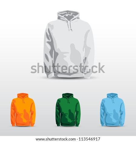 Amazing vector set. Men's shirt, t-shirt and sweatshirt (long sleeve) design template.