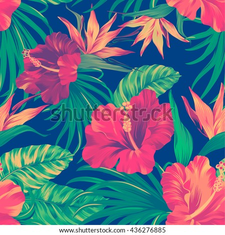amazing vector tropical flowers