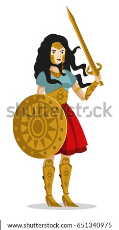 amazon woman warrior with