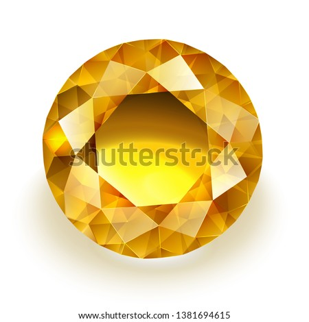 amber colored sparkling diamond