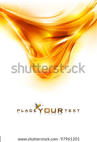 Amber honey. Abstract background. Vector