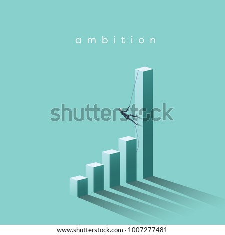 ambition vector concept with...