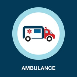 ambulance car - emergency sign - medical illustration