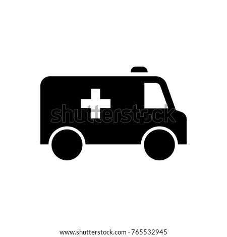 Ambulance car purple