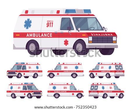 ambulance car rescue set 911