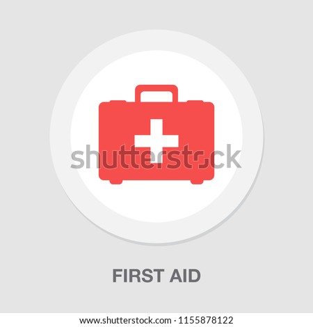 ambulance case - Medical bag icon vector, First aid kit icon vector