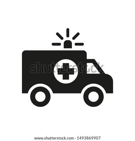Ambulance icon on white background.
