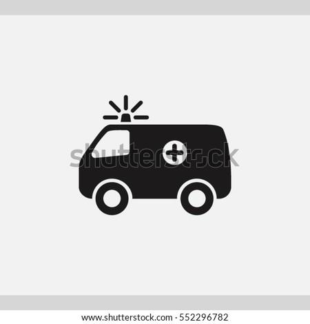 ambulance icon. One of set web icons