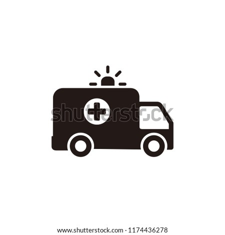 Ambulance icon symbol vector