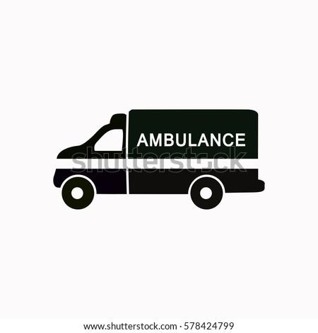 Ambulance  icon. Vector design.