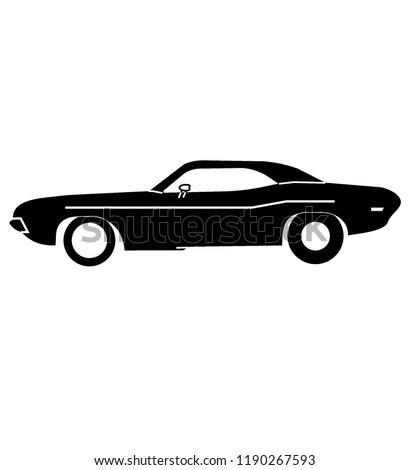 amercian muscle car logo