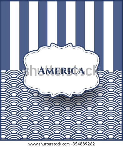 America card, colorful, nice design