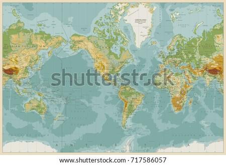 america centered physical world ...