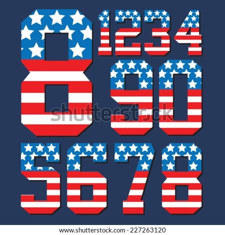 america flag typography  t