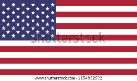 America flag vector icon, simple, flat design for web or mobile app