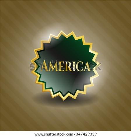 America gold badge