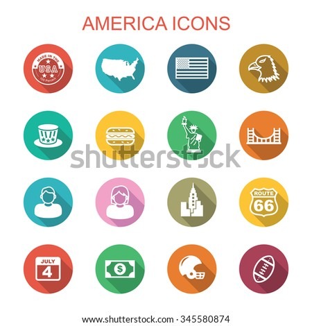 america long shadow icons  flat