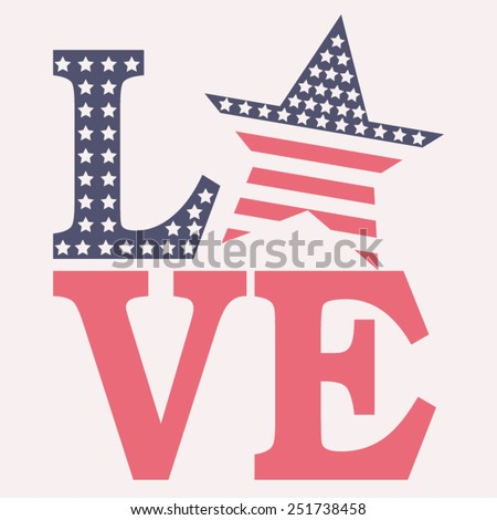 america love typography  t