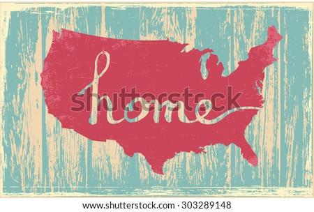 America nostalgic rustic vintage state vector sign