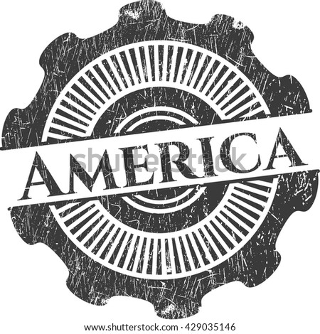 America rubber grunge texture seal