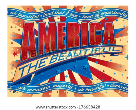 America the Beautiful banner