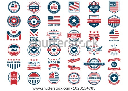 America Vector label for banner, poster, flyer